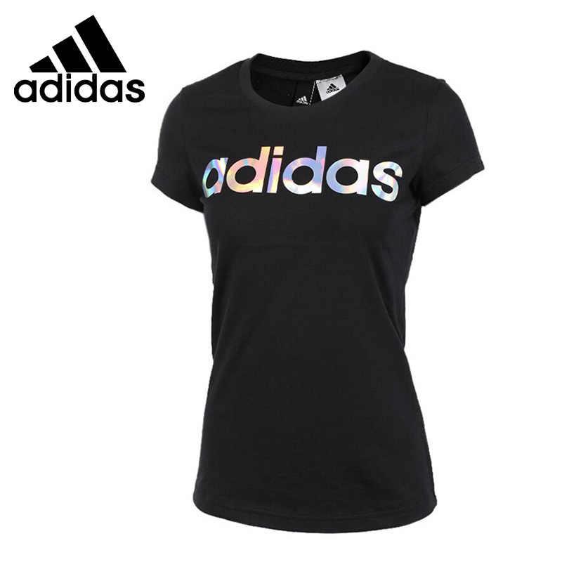 Nueva llegada Original Adidas G T LINEAR camisetas de mujer ropa deportiva  de manga corta