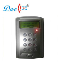 Security system access control card reader pin code contactless rfid reader with LCD display