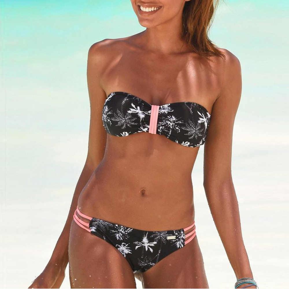 ¡Novedad De 2020! Bikini brasileño para mujer, conjunto De Bikini Sexy con hombros descubiertos, traje De baño para mujer
