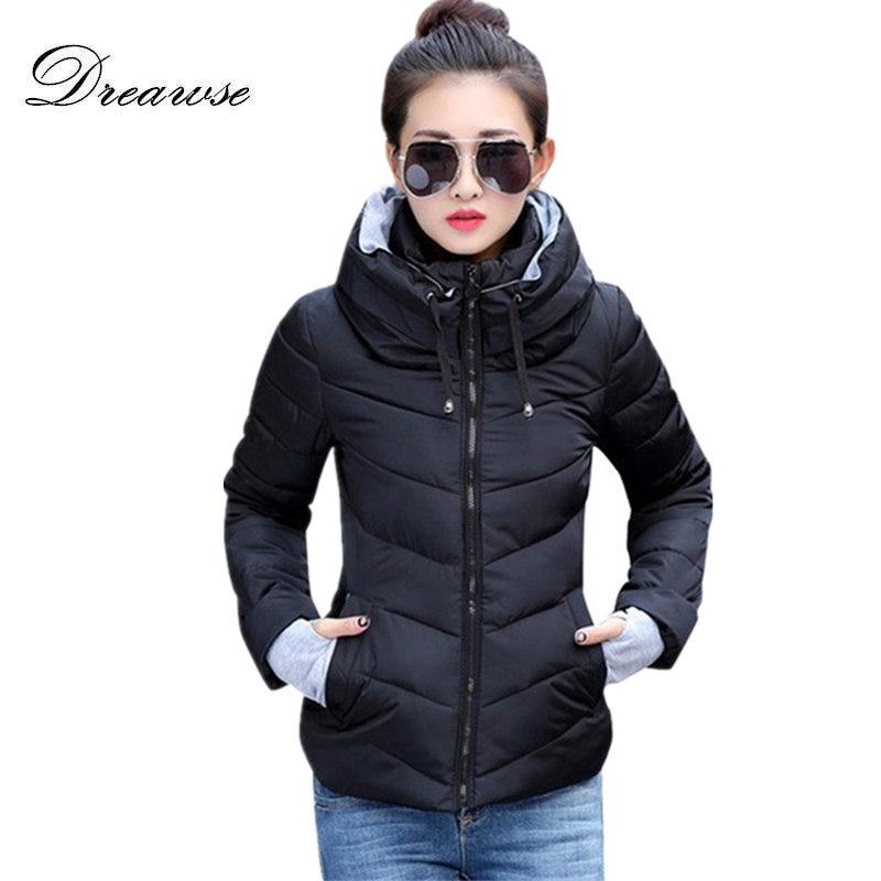 Dreawse Fashion Coat Women Winter Wadded Jacket New Outerwear Short Jacket Female Padded   Parkas   Overcoat Warm Coat MC1095