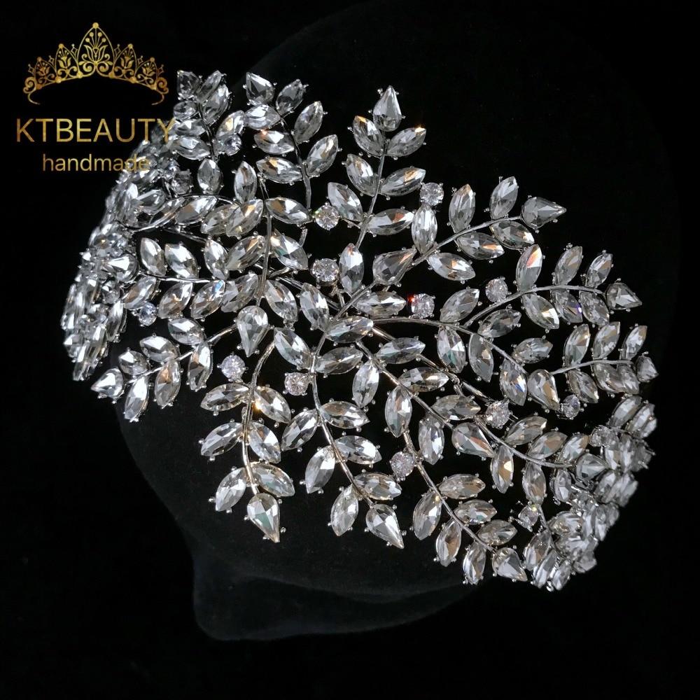New Rhinestone Custom Made Silver Retro Crystal Zircon Headpiece Royal Bridal Wedding Dressing Crown Accessory Women