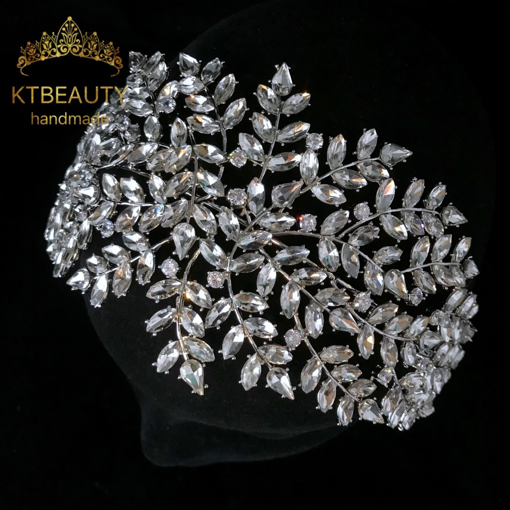 Nuevo de diamantes de imitación de plata Retro de cristal + de tocado de novia boda vestir corona accesorio de joyería de las mujeres