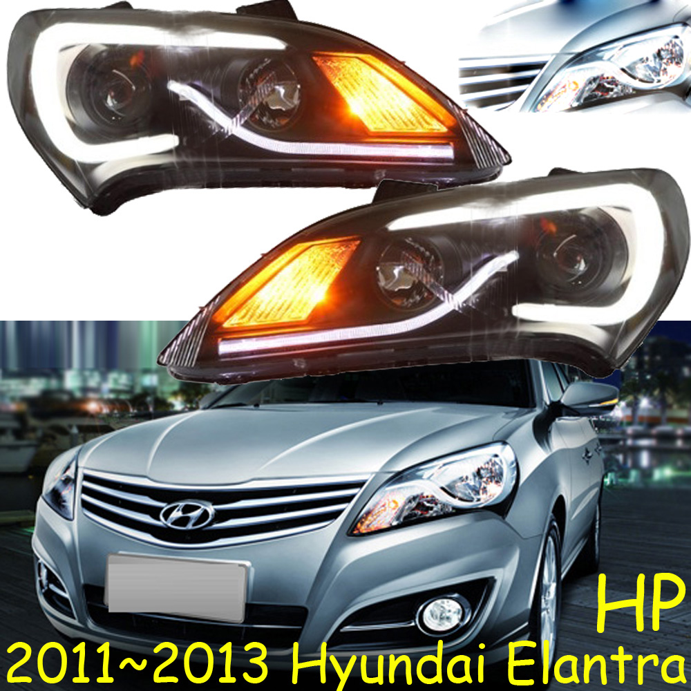 HID,2011~2013,Car Styling,Elantra Headlight,Solaris,accent,Elantra,Genesis,i10,i20,santa fe,lantra;Elantra head lamp accent verna solaris for hyundai led tail lamp 2011 2013 year red color yz
