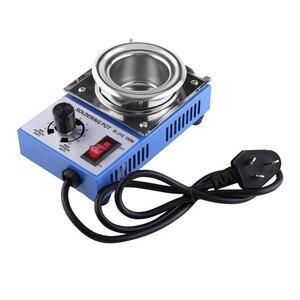 Image 2 - ST 21C 220V 150W Solder Pot Soldering Desoldering Bath 50mm 200 450℃ Adjustable Stainless Steel Soldering Melting Stove Tin Pot