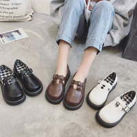 2018 Spring New Forest Single shoes Art Student Wild shoes British style Soft sister Harajuku Shoes