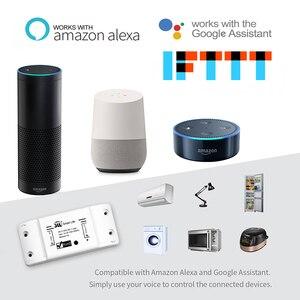Image 4 - Interruptor de luz inteligente universal, faça você mesmo, temporizador wireless, controle remoto funciona com alexa do google home, 4 peças