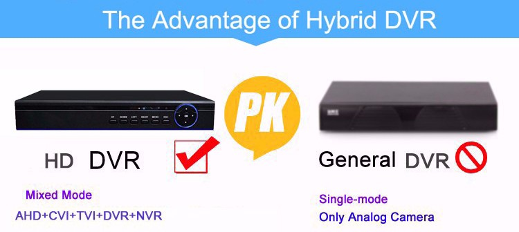 the advantage of 5 in 1 ahd dvr