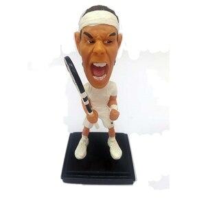 Bobblehead мультфильм теннис известный Звезда плеер кукла 10 см смолы Nadal фигурки белый комплект Ограниченная серия коллекции