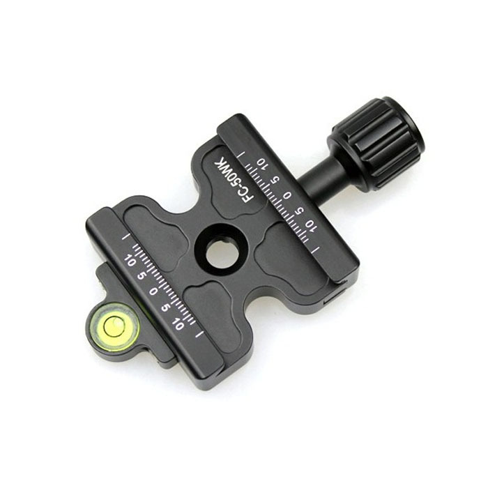 FITTEST 50mm Quick Release Clamp Screw-Knob Clamp FC-50WK Arca-Siwss RRS SUNWAYFOTO Compatible