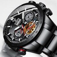 Schweiz BINGER Uhr Männer Automatische Mechanische Herren Uhren Top Brand Luxus Military Uhr Relogio Masculino montre homme