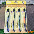 golden four cigarettes imported carbon black toothbrush 4 PCS  Super soft   Teeth cleaning