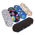 1PC Charcoal Bamboo Cloth Reusable Washable Menstrual Pads Mama Sanitary Panty Towel 5 Colors
