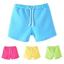 Jungen Strand Hosen Kinder Hosen Sommer Pure Candy Farbe Mädchen Shorts 3-13Y