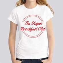 """""""The Vegan Breakfast Club"""" women's t-shirt / girlie"""