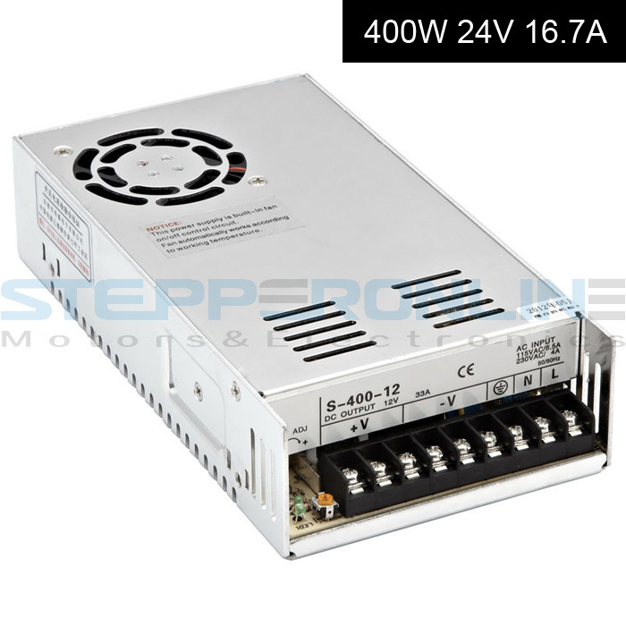 Switching Power Supply 24V 400W 16.7A for CNC Router Kits 115V/230V AC cnc power supply 215*115*50mm dc48v 500w 10 4a switching power supply 115v 230v to stepper motor diy cnc router