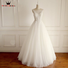 QUEEN BRIDAL Custom Made A-line Beading Wedding Dresses