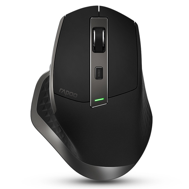 Rapoo MT750 Rechargeable Multi-mode Wireless Mouse Easy-Switch between Bluetooth and 2.4G up to 4 Devices for PC and Mac