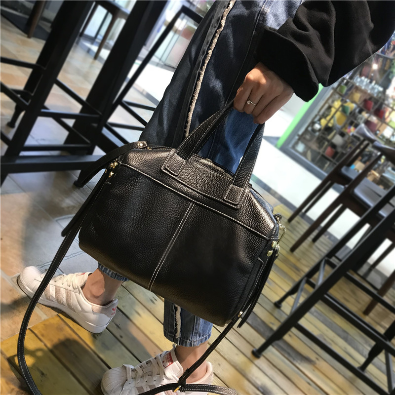 Sac Croix Nouveau Oblique red Épaule Véritable black khaki Dolove 2018 Cuir Messenger en Lettre En Sac green Ox Boston Femmes Style Brown Unique De 5Yx54aqT