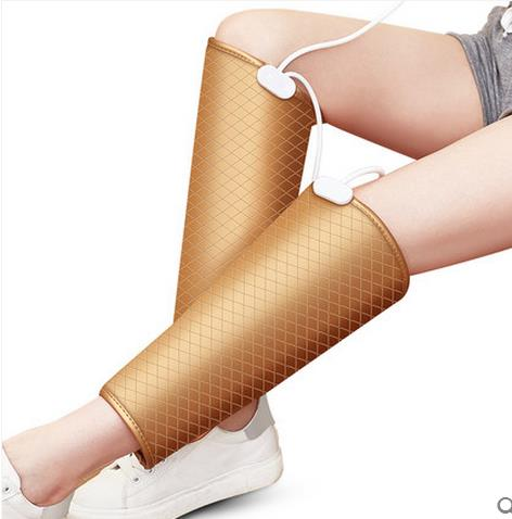 Gold electric heating kneepad thermal women's joint male summer the elderly knee four seasons massage device adjustable knee support joint brace apparatus kneepad fixed frame postoperative hard knee ligament fixation recovery