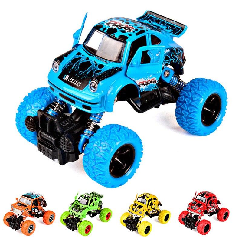(1 unidades) niños Graffiti camión tiran detrás los vehículos del juguete del bebé coches Blaze camión Puerta Abierta cuatro ruedas monstruo niños regalo juguetes