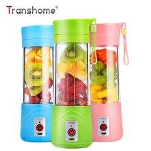 Transhome USB Rechargeable Juicer Water Bottle 400ml Mini Portable Electric Lemon Fruit Juicer Milkshake Smoothie Maker
