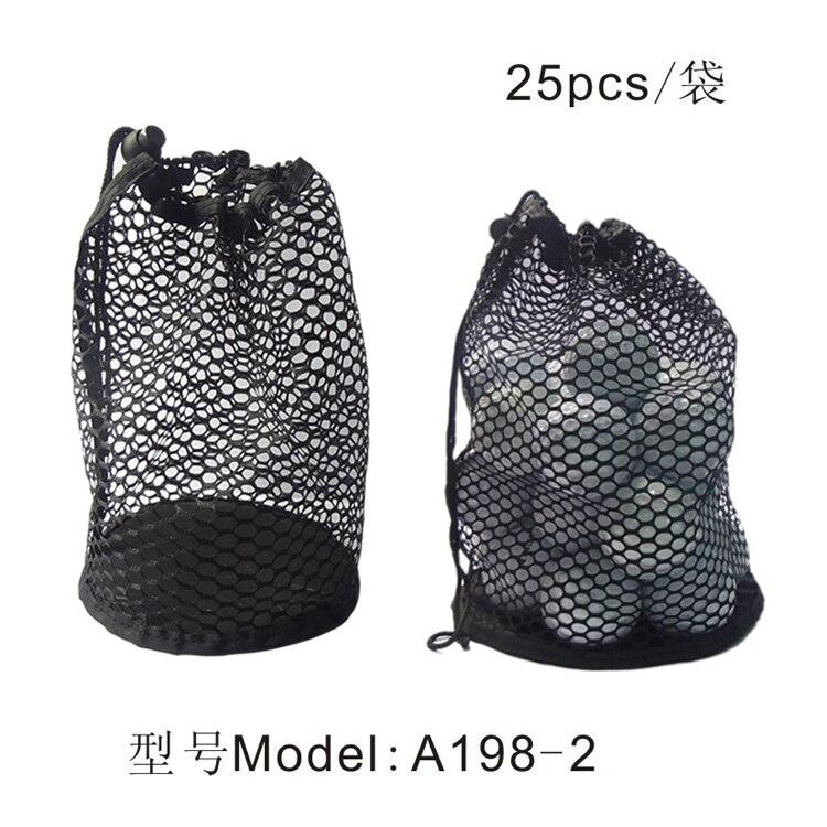 Nylon Mesh Net Bag Pouch Table Tennis Black Portable Storage Drawing String Closure Golf Ball Holder 12/25/50 Balls Accessories