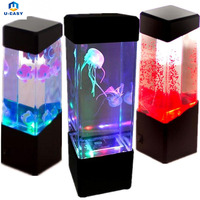 4 Patterns LED Light Glowing Aquarium Fish Tank Night Light Home Indoor Decoration Light Gift Lamp