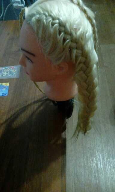 CAMMITEVER белый манекен с волосами Hairstyling Парикмахерская учебная голова белый манекен с волосами тренировочная голова для парикмахера для девочек тренировки