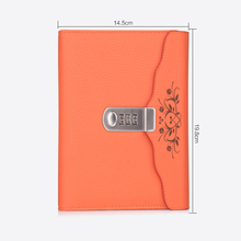 цена New Leather Diary notebook with Lock code Password  thick office School supplies stationery Products note book gift онлайн в 2017 году