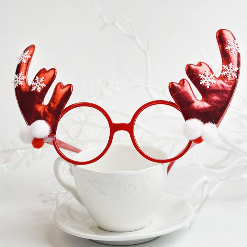 Christmas Halloween Novelty Accessory Reindeer Antler Glasses Costume Party Gift
