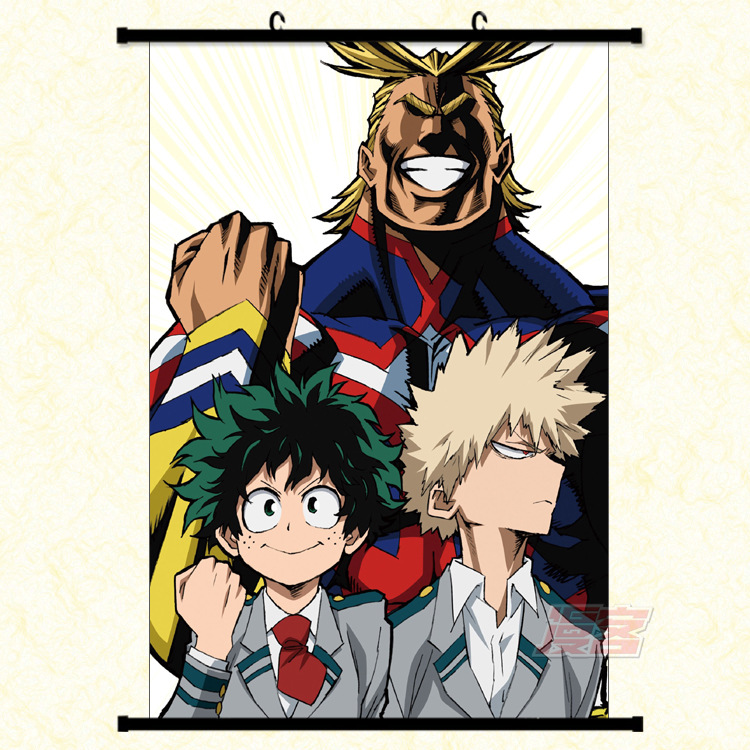 My Hero Academia Scroll Canvas Fantasy Motivational Abstract Art Laminas Decorativas Pared Cuadros Painting By Numbers HD DIY 3