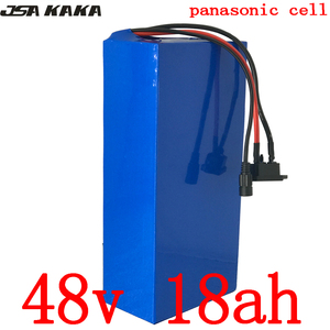 1000W 48V 18AH electric bike battery 48V 48AH E-bike battery 48 V Lithium battery use panasonic cell with 50A BMS and 2A Charger(China)