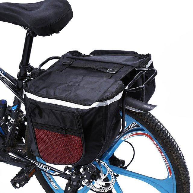 Outdoor 25l Bike Bags Waterproof Bicycle Pannier 600d Double Side Bag Seat Trunk For