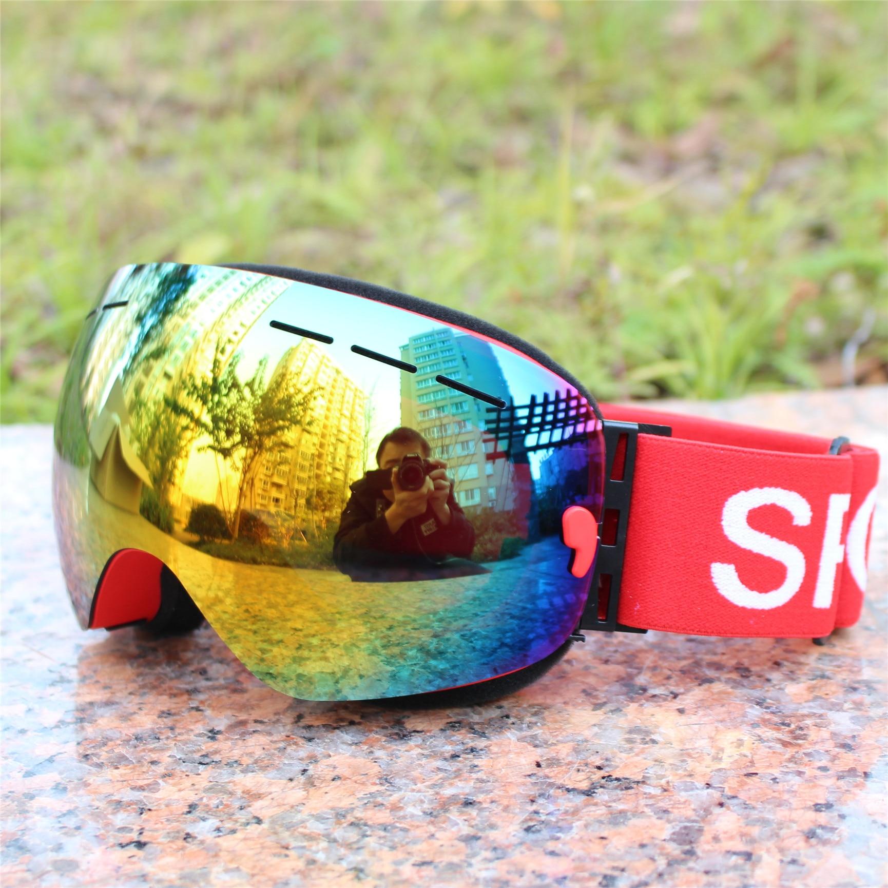 0c7b1367874 brand ski goggles layer UV400 anti-fog big ski mask glasses sunglasses  skiing men women snow snowboard