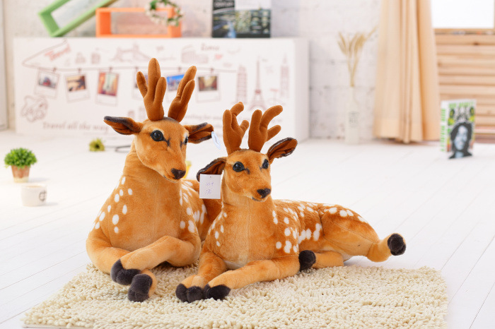 110cm Sika deer alive Reborn doll soft toy Stuffed Toys for girls plush toys stuffed animal pillow valentines day gift kids toys 1pcs 10 25cm small size turtle plush tortoise toy cute turtle plush pillow stuffed toy cushion for girls vanlentine s day gift