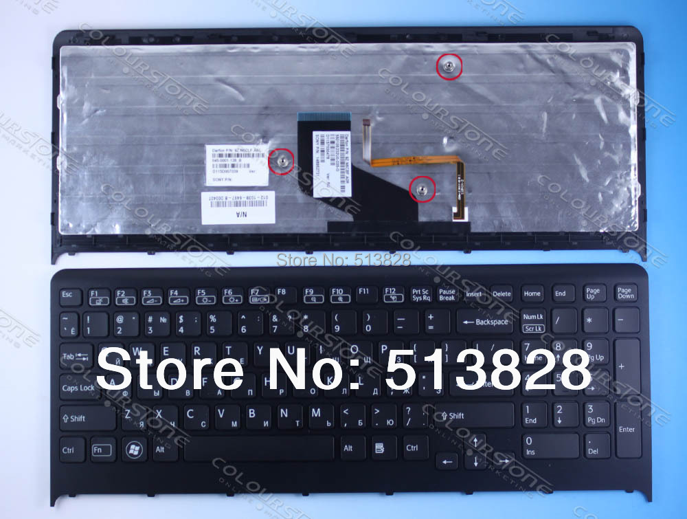 New original RUSSIA Laptop keyboard for SONY VPC-F219FC F219  F236 F237  BLACK  with backlit and frame keyboard   148952731 new and original laptop swiss qwerty replacement keyboard for sony vpc z1 vpcz1 pcg 31113t 31112t 31111t with backlit