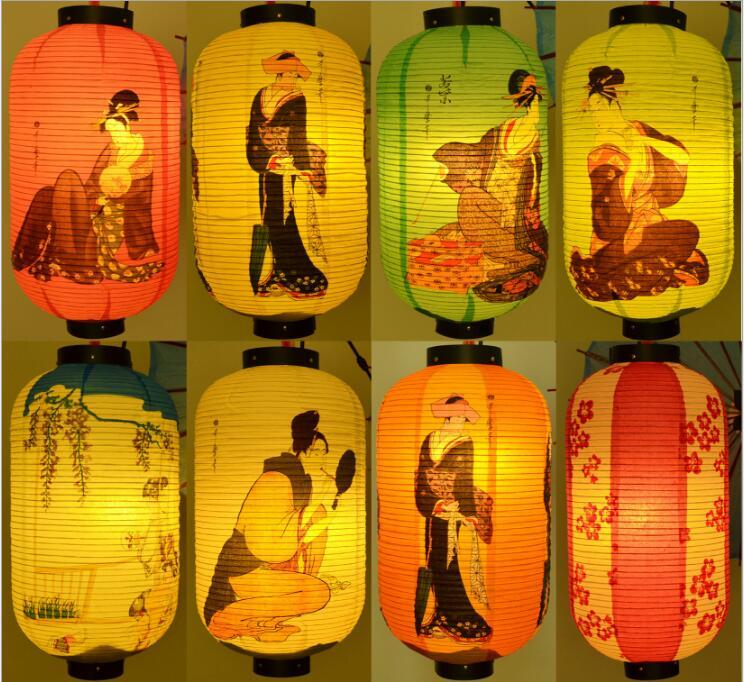 Japan Sushi Shop Papier Laterne Qualität Wasserdicht Papier Lampe Große Hängen Licht Satin Bar Dekorative Pub Haus Dekor