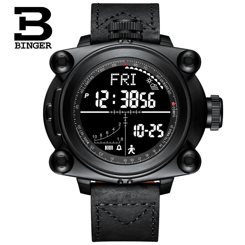Relojes inteligentes para hombre, relojes de pulsera digitales para deportes al aire libre, conteo de pasos, altitud, presión, clima, brújula y temperatura MS3001-in Relojes deportivos from Relojes de pulsera    1