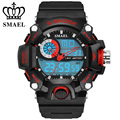 SMAEL Analog LED Digit Sport Watches Men Waterproof S Shock Dual Time Casual Watches Military relogio masculino Gift WS1385