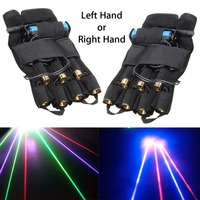 2pcs Rechargeable Lighting Effect Laser Glove DJ Stage Showing 3 Green + 2 Red +2 Violet Lazer Head DJ Stage lighting show