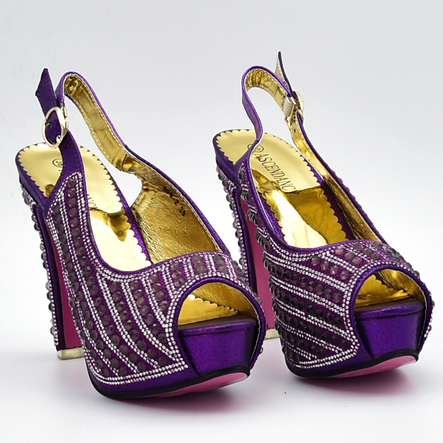 Et Haute Dames Sac 1 Ensemble Strass 4 Qualité Avec Décoré 3 Nigérien Violet Parti Italiennes Femmes Chaussures De Couleur 2 wCqxnX5IOB