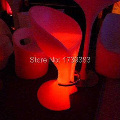 The New Fashion waterproof light-emitting Stools High LED bar chair furniture explosion models selling high bar stool