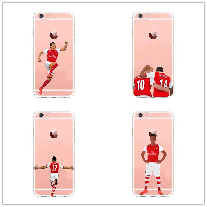 7b13b32027a Alexis Sanchez Arsenal Soccer Sports Phone Case For iphone SE 5 5s 6s 7  7plus Transparent