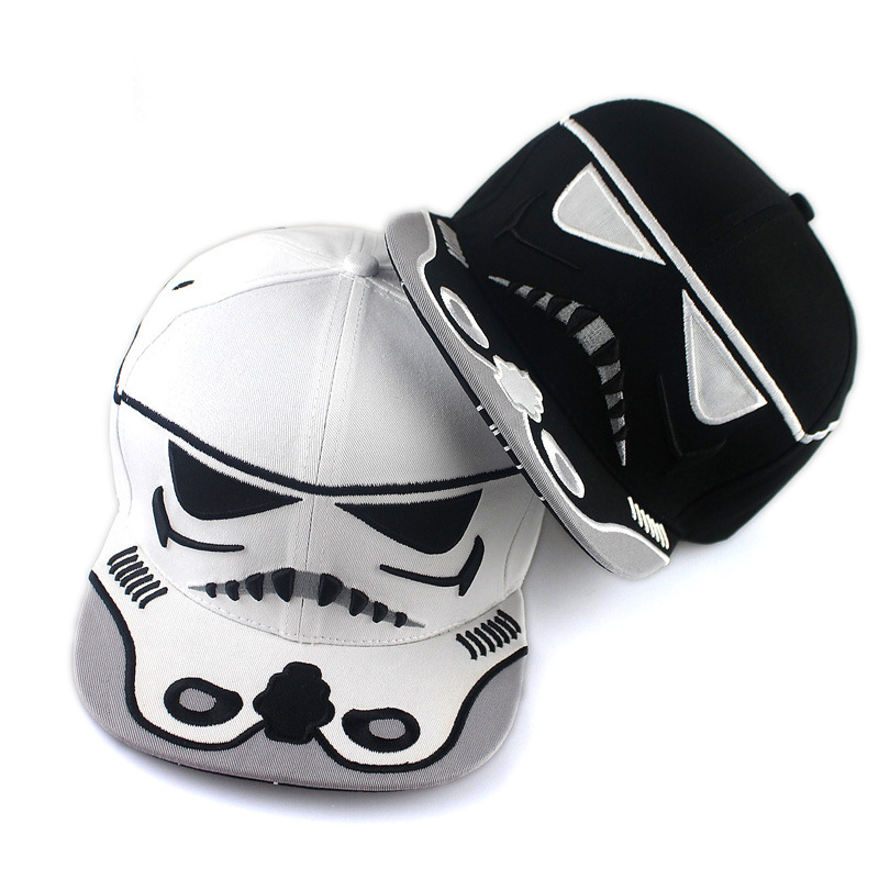 2017 New Fashion Cotton Brand Star Wars Baseball Cap Cool Strapback Letter Snapback Caps Bboy Hip-Hop Hattar För Män Kvinnor