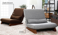 Floor Folding Single Seat Sofa Bed Modern Fabric Japanese Living Room Furniture Armless Lounge Recliner Occasional Accent Chair
