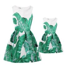 Summer Mother Daughter Dresses Clothes Mom and Daughter Dress Family Matching Outfits Look Clothing Print Mae e Filha Vestido недорого