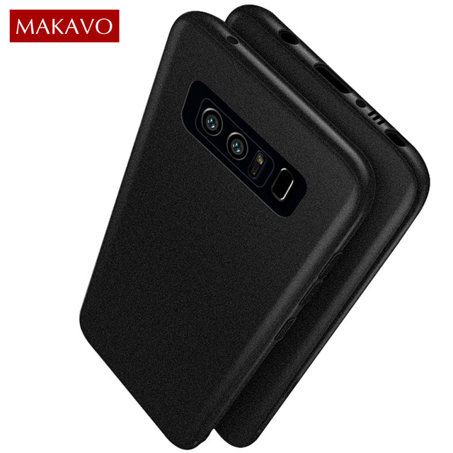 info for 28cf8 4057c US $2.99 40% OFF|MAKAVO Case for Samsung Galaxy Note 8 Slim Silicon Soft  Back Cover Coarse Matte Skin Anti scratch Grip Shockproof TPU Housing-in ...