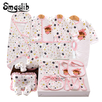 14pcs/lot 19pcs/lot Baby girl winter clothes Cartoon Clothes+pant for Kids 0 3M Newborn Clothing Gift baby outfits Tracksuits