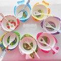 Novo Animal Dos Desenhos Animados Do Bebê Ambiental de Peixe Jogo de Jantar Pratos Para O bebê Criança anti Crianças talheres de Alimentação quente Plats