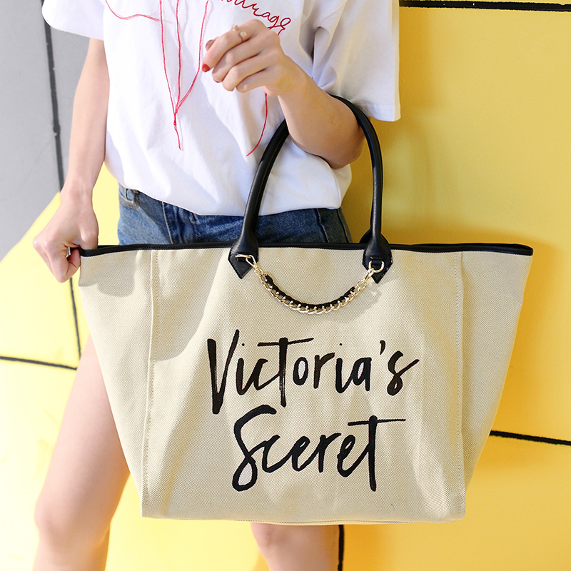 Canvas Bags Handbags Large Designer Vintage Letter Chains Shopping Bag Bolsa Feminina